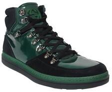 $770 NEW Gucci Men's contrast combo high-top sneaker black / Green G 07 / U.S 8