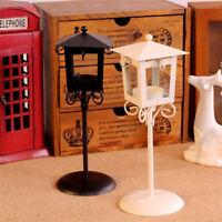 Black Iron Glass Candle Holder Tea Light Stand Home Table Lantern Decor Gift