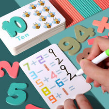 Montessori educational toys reusable baby math learning puzzle cards for childre