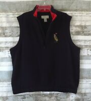ORVIS Golf Vest Sz XL EXTRA LARGE 19th Hole Black Fleece 1/4 Zip Poly Cotton