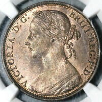 1884 NGC MS 63 Victoria Penny Great Britain RB Mint State Coin (20062403C)