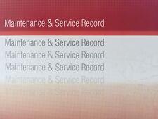 Mazda Generic Replacement Car Service History Book New Handbook Blank R