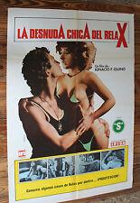Cancello Film LA NUDO RAGAZZA Dell' RELAX Vintage Erotico Sex Movie Film Poster