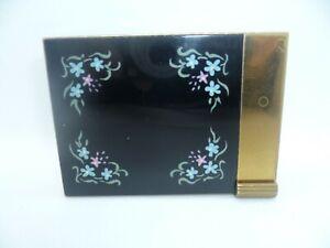 Vintage Volupte Compact & Lipstick Holder.  Handpainted with floral design