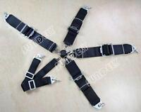 """New Racing Seat Harness Belt Quick Release 3"""" Inch 4 5 6 Point Eye Bolts (Black)"""