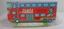 PAN PAN VTG 80's PANDA BUS MULTI FUNCTION MECHANICAL BUTTON PENCIL BOX CASE MIP