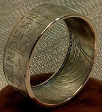 Münzring / Coin - Ring 625er Silber 5 DM  *Silberadler  Heiermann* Gr. 48 - 72