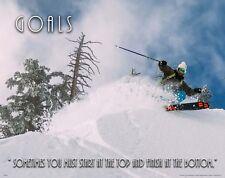 Snowboarding Fantasy STADIUM EARTH 2050 Giant Shredding Alien POSTER