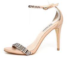 Steve Madden Womens Suzzana Beige Ankle Strap Sandal Heels Sz 8M 5112