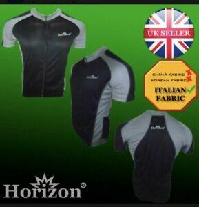 Horizon Mens Half Sleeve Cycling Jersey Zipper Biking Top Outdoor Sports Shirt