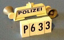 (P633) playmobil porte gyrophare sirène vintage 3210 3215 3216 3217 3219 3524