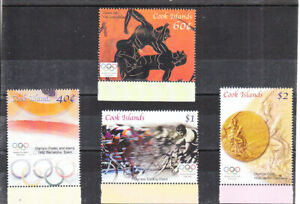 COOK ISLANDS  2004  ATHENS OLYMPIC GAMES  SET MNH VF