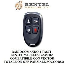 radicomando wireless 433mhz bentel 4 tasti rapina parziale vector no inim keyfob