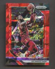 2018-19 Prizm Basketball Lebron James LAKERS Red lce Refractor #6