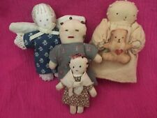 Vintage Handmade Cloth Dolls Lot of 4