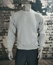 VTG Men's Large Adidas Team Crew Neck Sweater Light Grey Cotton Made in the USA