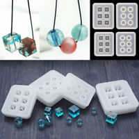 New Cube Ball Beads Silicone Mold Bracelet Pendant Jewellery Mould Resin Craft