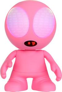 WIKI-PK Alien Bluetooth Lautsprecher Box mit AUX SD Handy Tablet LED Pink #1464