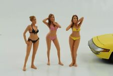 1:18 Figur Figuren Set 3 Stück Calendar Girls Bikini American Diorama