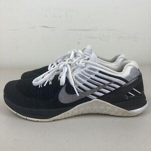Nike Metcon DSX Flyknit Mens CrossFit Shoes US 8 Black White VGC