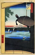 Japanese Art: Hiroshige: 100 Famous Edo Views: Mannen Bridge:  Fine Art Print