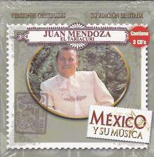 Juan Mendoza El Tariacuri Mexico y su Musica 3CDS Caja de Carton NEW Nuevo