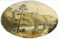 Ellis, River Derwent, Matlock, Peak District –Mid-19th-century watercolour