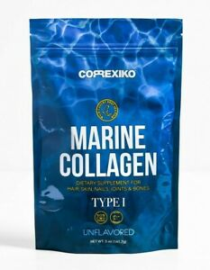 CORREXIKO Marine Collagen Peptides Powder 14 Day Pack 141g 5oz Wild Caught Fish