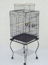 NEW Large 20-Inches Open Play Top Parrot Bird Cage With Removable Stand 670