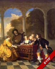 17TH CENTURY RENAISSANCE MUSIC CONCERT PAINTING HISTORY ART REAL CANVAS PRINT