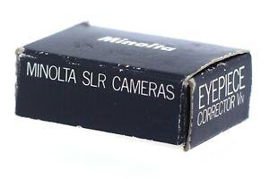 Minolta Genuine Eyepiece Corrector VN No.4 +2 Diopter, Boxed w/ Instructions