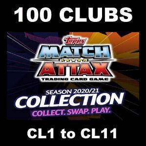 Match Attax 2020/21 20/21 Champions League 100 CLUBS