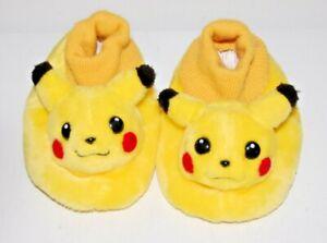 Vintage 2000 Pokémon Pikachu Slippers Children's Size 11-12 Nintendo Game Freak