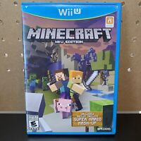 Minecraft (Wii U, 2015) Nintendo Wii U Edition - No Manual - Tested - Free Ship