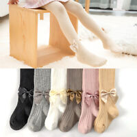 Kids Girls Fashion Bow Leggings Children Skinny Trousers Pants Cute Clothes New