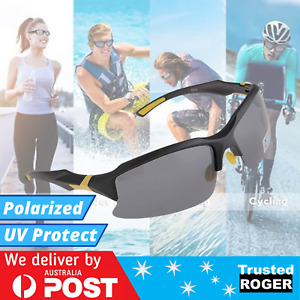 Mens Sunglasses Polarized Wrap Around Sports Running Cycling UV Protection
