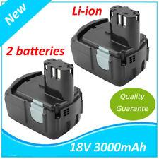 2PCS Batterie for Hitachi 18V 3.0Ah EB1812S EB1814SL EB1820 EB1824L EB18B,322876