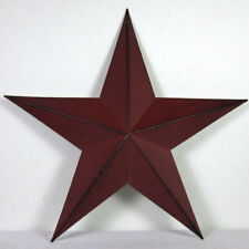 "12"" Inch BURGUNDY BLACK BARN STAR PRIMITIVE RUSTIC COUNTRY FARMHOUSE DECOR"