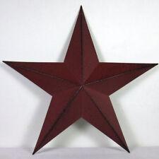 "12"" Inch BURGUNDY BLACK BARN STAR PRIMITIVE RUSTIC COUNTRY FARMHOUSE DECOR"