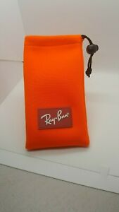 NEW RAY-BAN EYEGLASSES SUNGLASSES OPTICAL Orange pouch