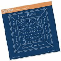 CLARITY STAMP GROOVI Parchment Embossing Plate ALPHABET PICTURE FRAME 210  x210