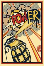 SHEPARD FAIREY ♦ POWER  ♦ GROSSE LITHOGRAPHIE SIGNIERT  OBEY GIANT MINT