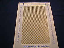 MICROSCALE DECALS CH-3- 1/8 GOLD CHECKERS NEW