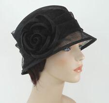 New Woman Church Derby Wedding Sinamay  Ascot Cloche Dress Hat 2931 black