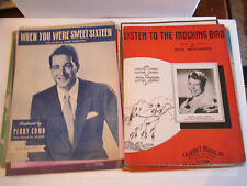 24 VINTAGE MUSIC SHEET & SONG BOOK COLLECTION - VERY OLD - SEE PHOTOS  - RH-3-4