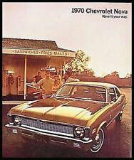 1970 Chevy Nova Color Brochure SS Original Xlnt 70