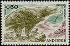 "ANDORRE FRANCAIS N°219 ""FAUNE, AIGLE ROYAL DES PYRENEES 60 C."" NEUF xx TTB"
