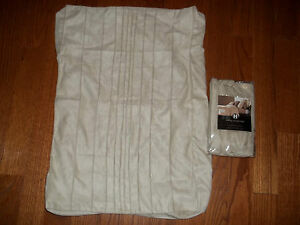 NIP Hotel Collection Stitched Sueded Pintuck Standard Shams (2)