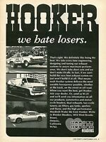 1975 Hooker Headers We Hate Losers Funny Car Van & Pontiac Firebird Trans Am Ad
