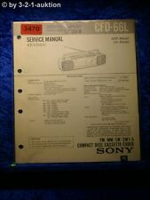 Sony Service Manual CFD 66L Cassette Recorder (#3470)